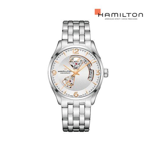 [공식] 해밀턴 H32705151 재즈마스터 오픈하트 오토 42mm 실버 메탈 남성 시계
