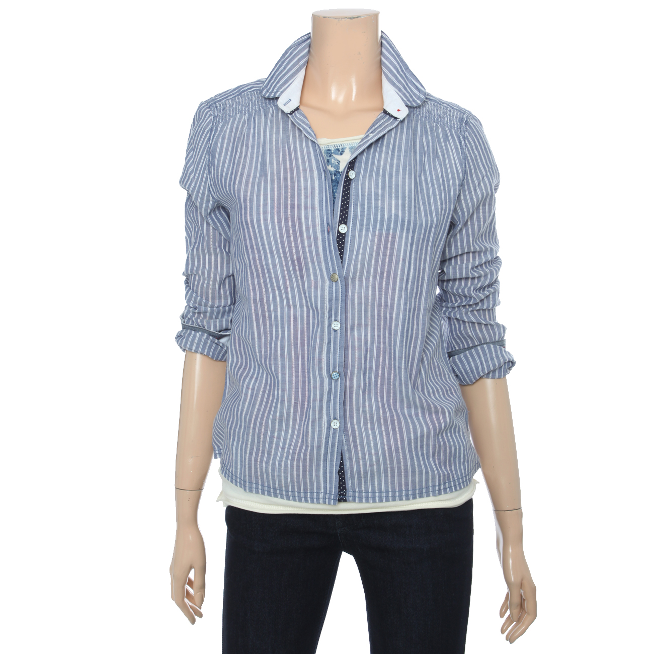 *[여]스트라이프 셔츠(EUN1HC51A)